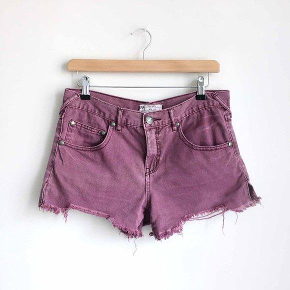 Free People cut-off denim shorts - size 27